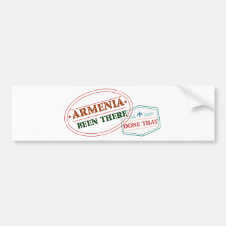 Armenia Been There Done That Bumper Sticker