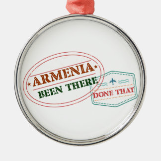 Armenia Been There Done That Silver-Colored Round Ornament