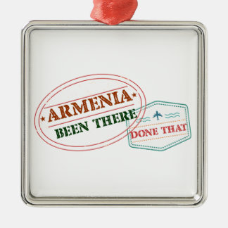Armenia Been There Done That Silver-Colored Square Ornament