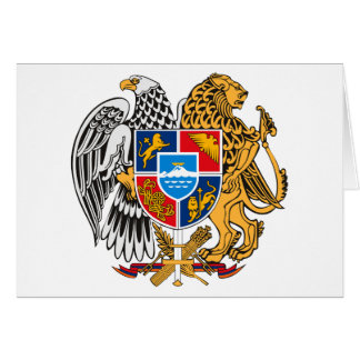 Armenia Coat of Arms Card