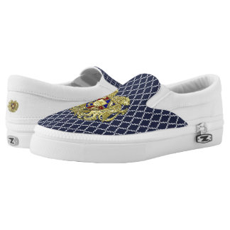Armenia Coat of Arms Jewel Tones Slip-On Sneakers