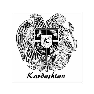 Armenia Coat of Arms Personalize Self-inking Stamp
