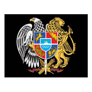 Armenia Coat Of Arms Postcard