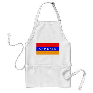 armenia country flag text name standard apron