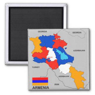 armenia country political map flag magnet