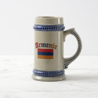 Armenia Flag 3 Color Beer Stein