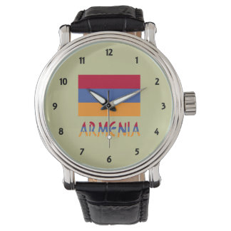 Armenia Flag and Word Watch