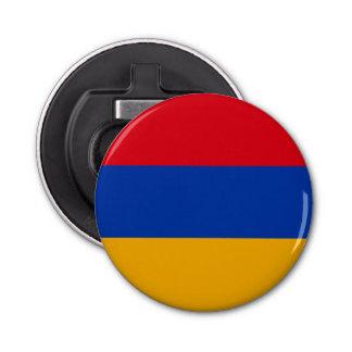 Armenia Flag Button Bottle Opener