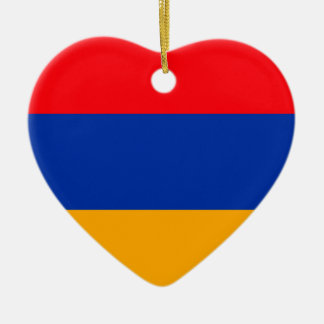 Armenia Flag Ceramic Heart Ornament