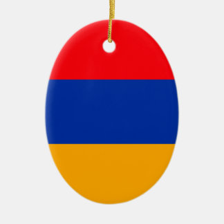Armenia Flag Ceramic Oval Ornament