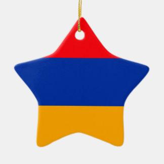 Armenia Flag Ceramic Star Ornament