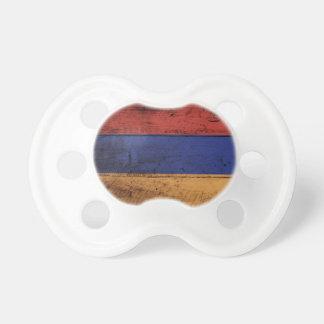 Armenia Flag on Old Wood Grain Pacifier