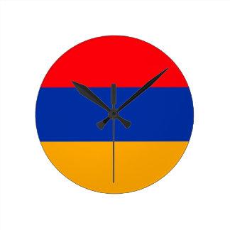 Armenia Flag Round Clock