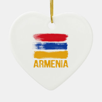 Armenia Flag shirts Ceramic Ornament
