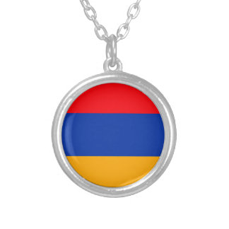 Armenia Flag Silver Plated Necklace