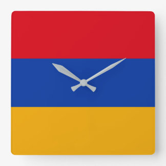 Armenia Flag Square Wall Clock