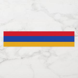 Armenia Flag Water Bottle Label