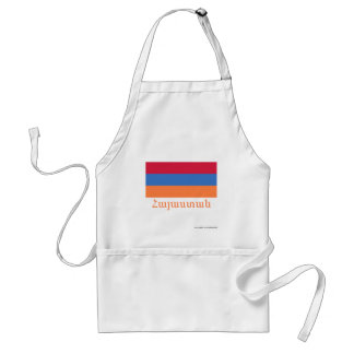 Armenia Flag with Name in Armenian Standard Apron