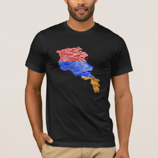 Armenia Flagcolor Map T-Shirt