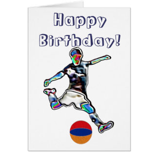 Armenia Football soccer birthday card