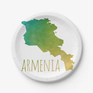 Armenia Paper Plate