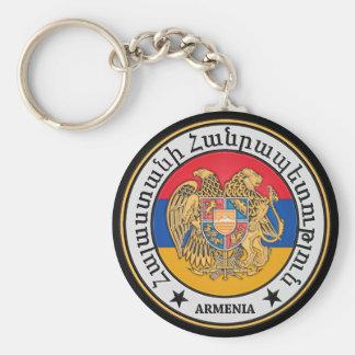 Armenia Round Emblem Basic Round Button Keychain