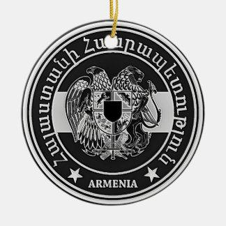 Armenia Round Emblem Ceramic Ornament