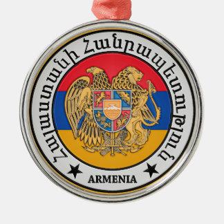 Armenia Round Emblem Metal Ornament