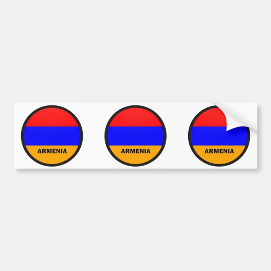 Armenia Roundel quality Flag Bumper Sticker