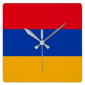 Armenia Square Wall Clock