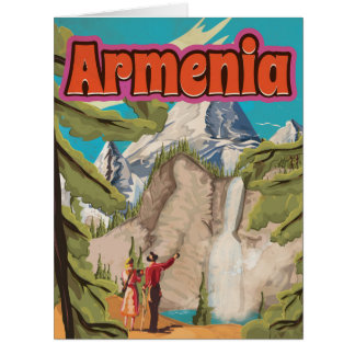 Armenia Vintage Travel Poster Card