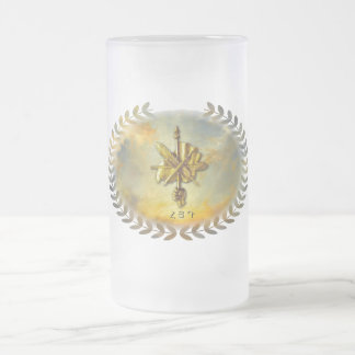 Armenian  16 oz Frosted Glass ARF Mug ( ՀՅԴ )