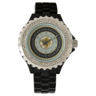 Armenian Alphabet and Eternity womens Watch