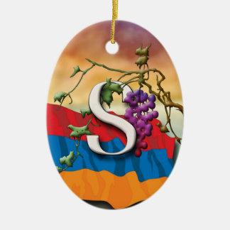 Armenian Alphabet Initials 'Dyun' Ornament