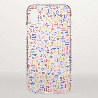 Armenian alphabet iPhone x case