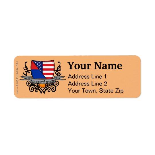 Armenian-American Shield Flag Return Address Label