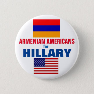 Armenian Americans for Hillary 2016 2 Inch Round Button