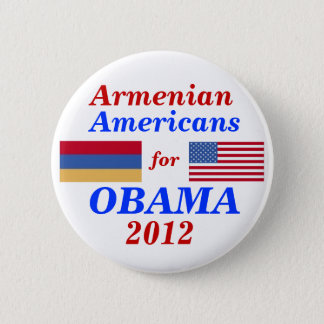 Armenian Americans for Obama 2012 2 Inch Round Button