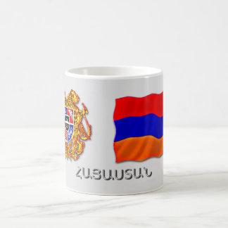 armenian Coat of Arms and the Flag Coffee Mug