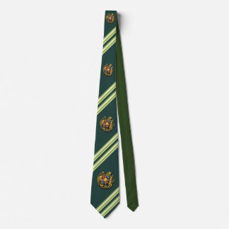 Armenian Coat of arms green necktie