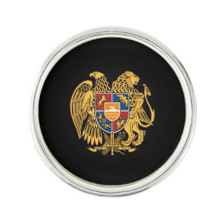 Armenian coat of arms lapel pin
