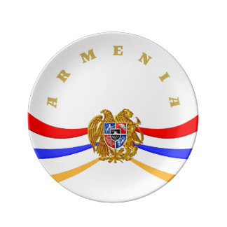 Armenian Coat of Arms  Porcelain Plate