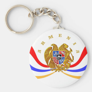 Armenian Coat of Arms Round keychain