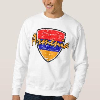 Armenian distressed flag sweatshirt