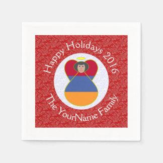 Armenian Flag Angel Christmas 2016 Disposable Napkin