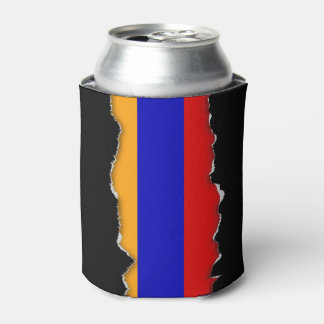 Armenian Flag Can Cooler