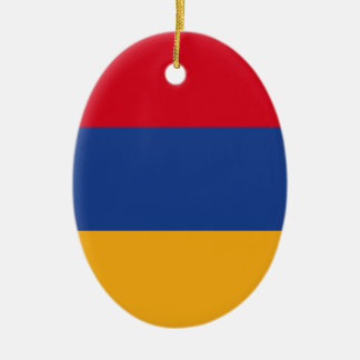 Armenian flag ceramic oval ornament