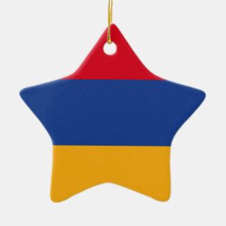 Armenian flag ceramic star ornament
