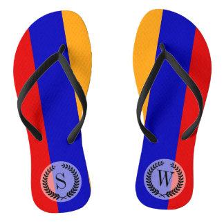 Armenian Flag Flip Flops