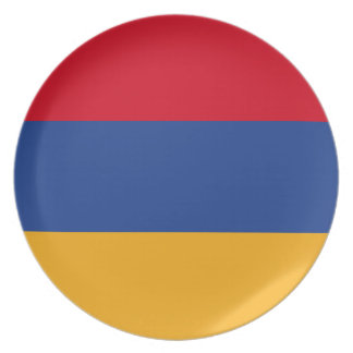 Armenian flag party plates